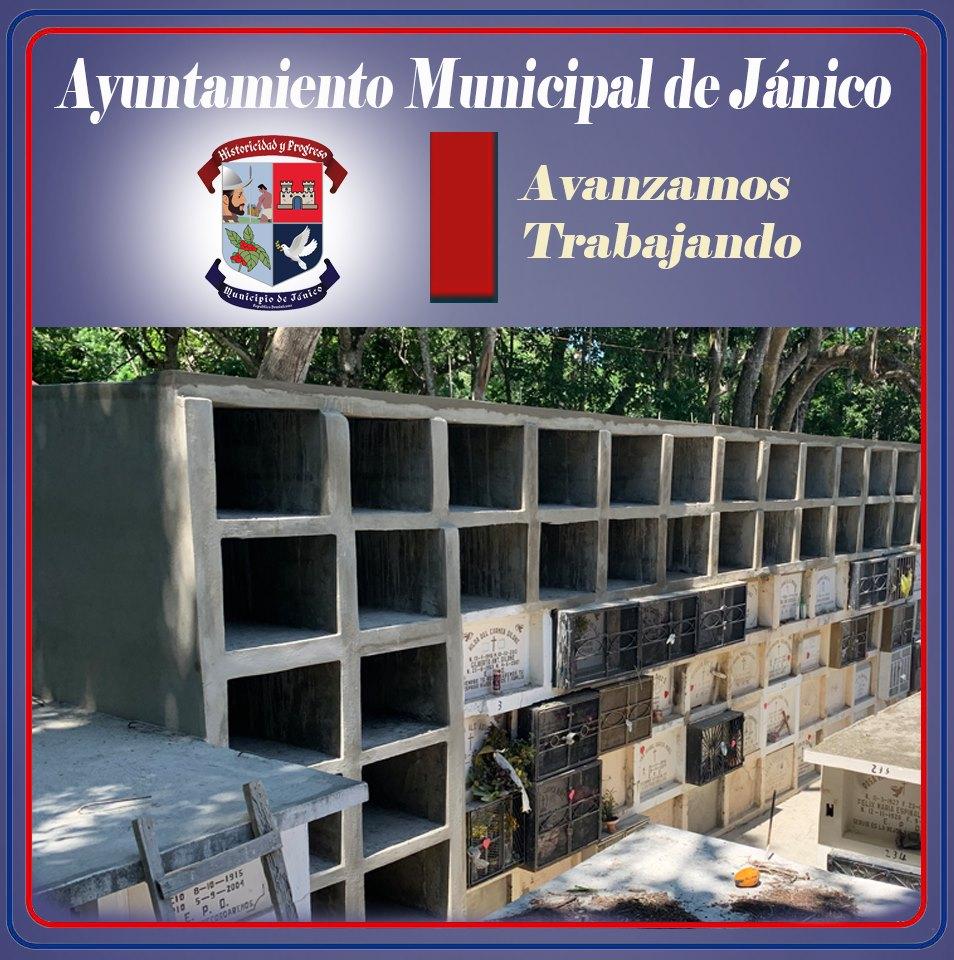 El Ayuntamiento Municipal ante el agotamiento de los espacios para nuestros difuntos construye 36 nicho en el Cementerio Municipal