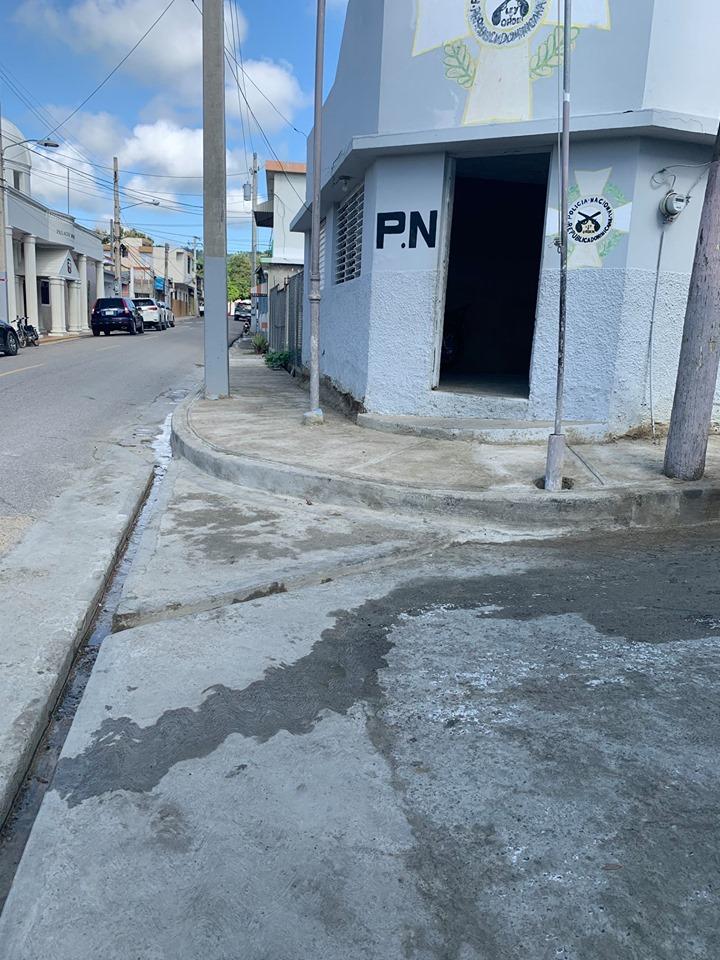 Finalizada la primera etapa de la remoción de aceras, contenes y badenes en el centro de la zona urbana